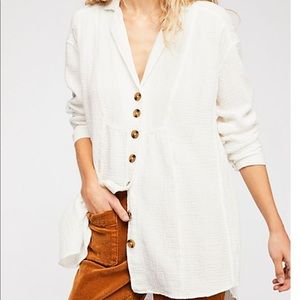 Free People All About The Feel Button-down Tunic